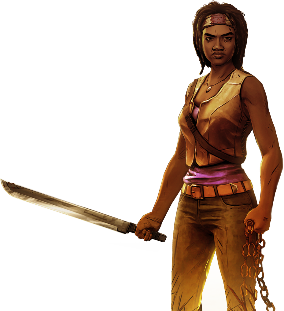 The walking dead game png. Michonne giant bomb no