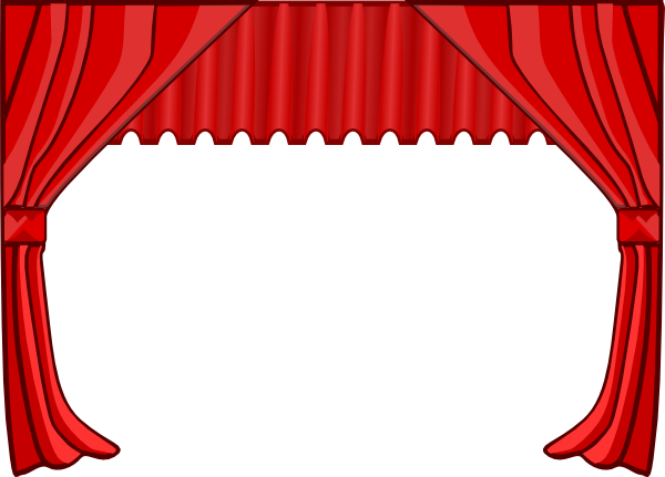 Theater clip art at. Curtains clipart vector freeuse stock