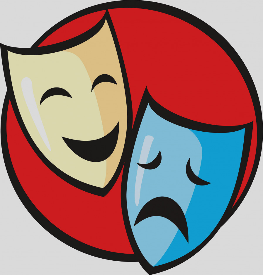Theater clipart play theatre. Drama mask at getdrawings