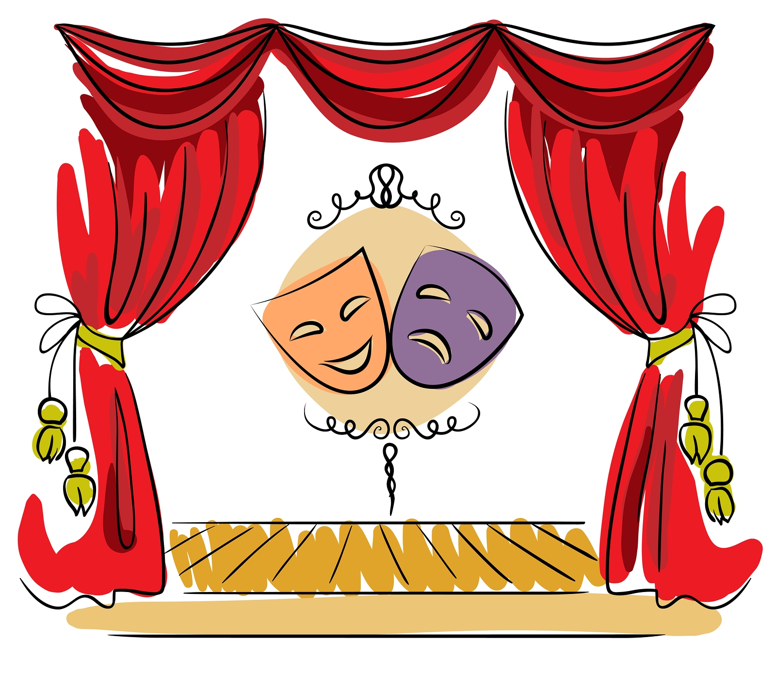Theater clipart play theatre. Unique design digital collection
