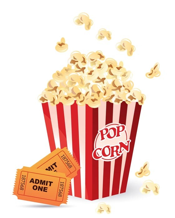 Theater clipart popcorn. Collection of movie
