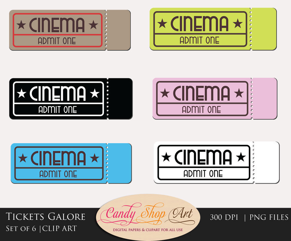 Theater clipart prom ticket. Movie cilpart majestic design