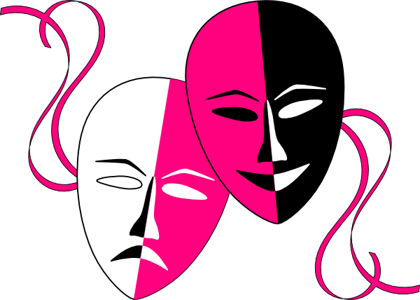 Theatre masks endowed edit. Theater vector theatrical mask svg free stock
