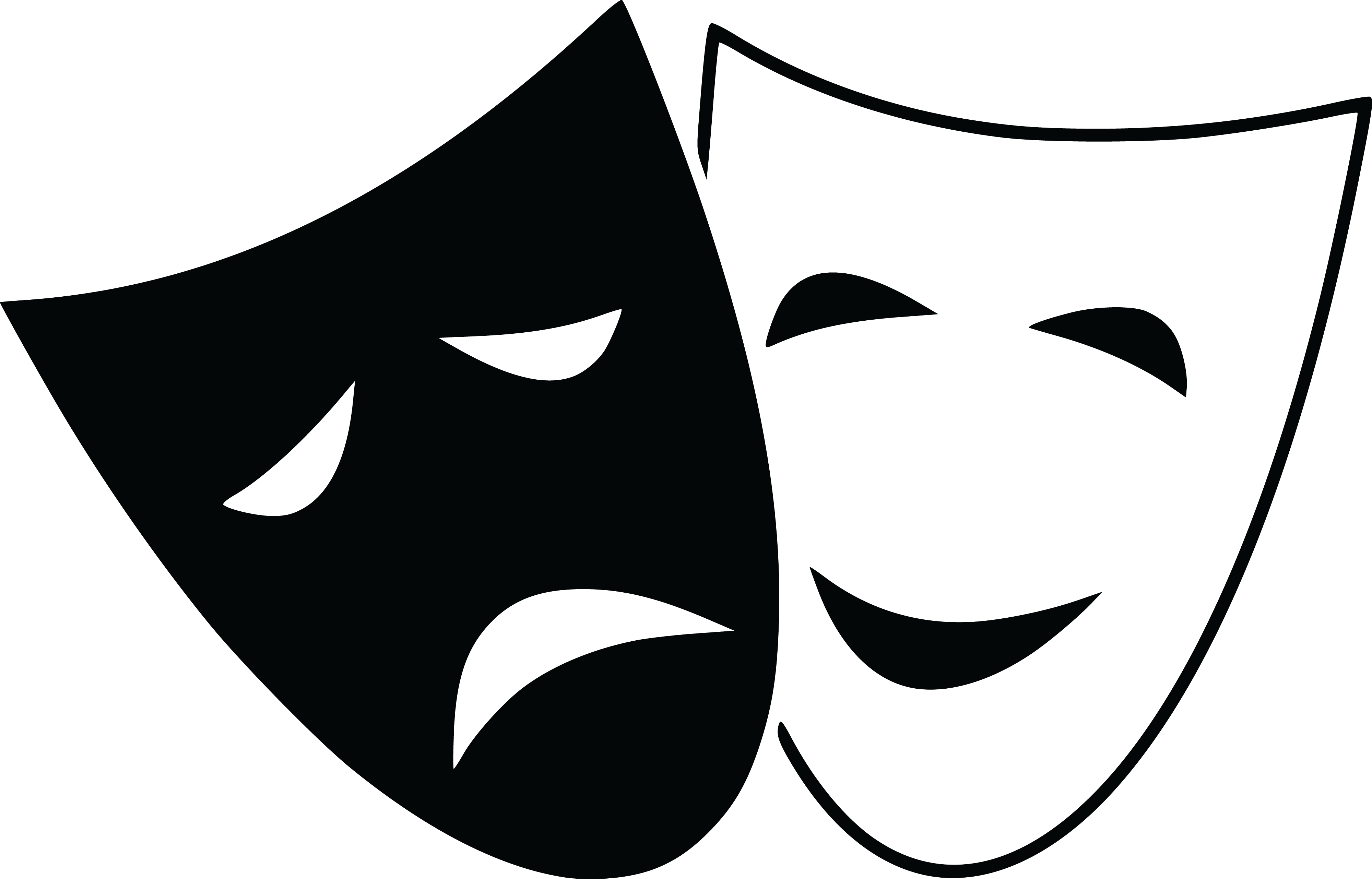 free clipart of. Theater mask png svg free library