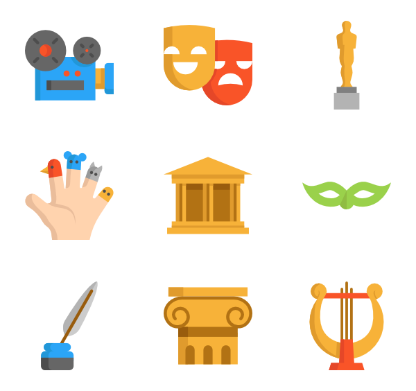 Icons free cinema. Theater vector mask jpg library download