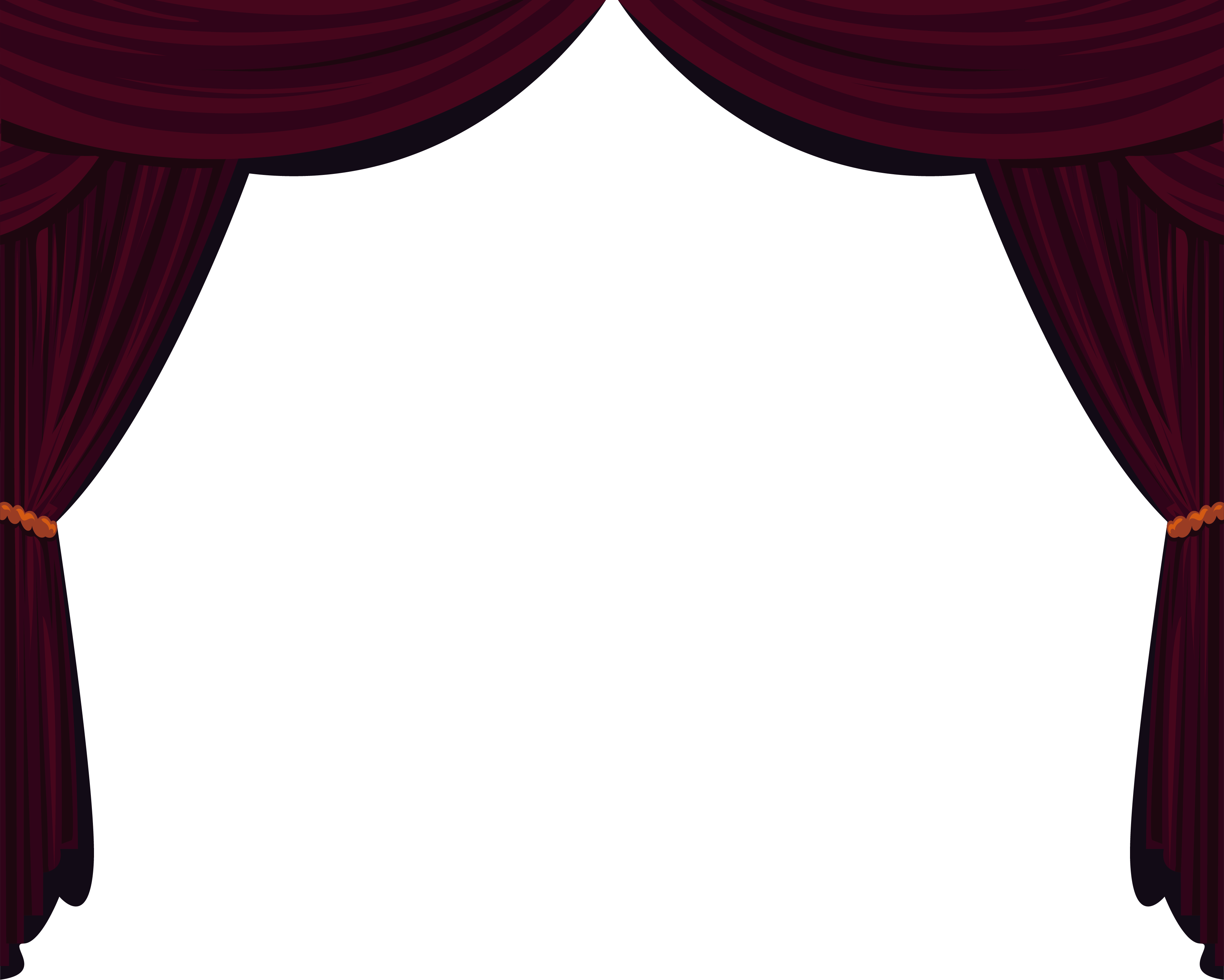 Theatre vector stage. Theater drapes and curtains