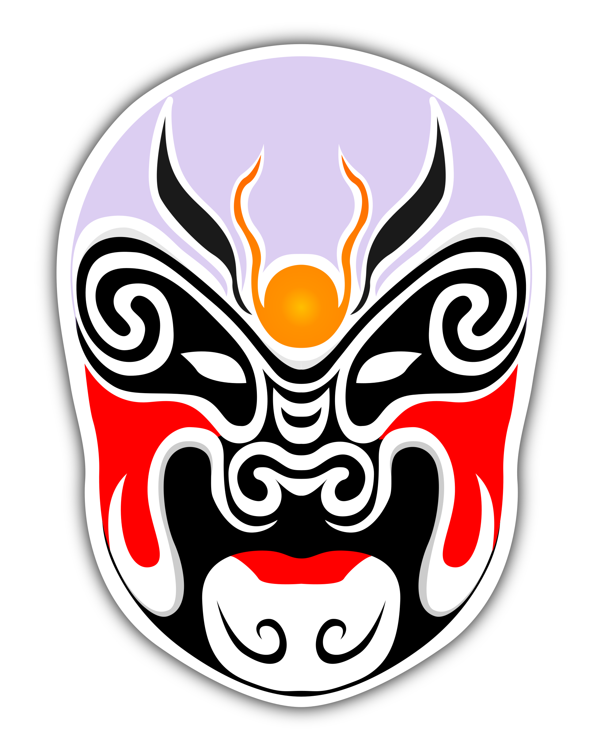 Theater vector mask. Chinese masks icons png