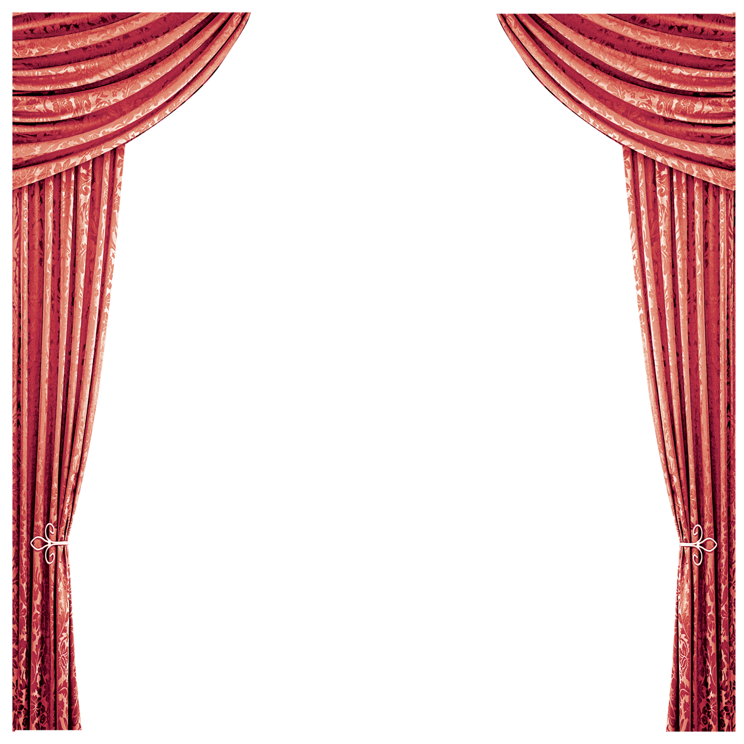 Theater vector pink curtain. Window red bathtub curtains