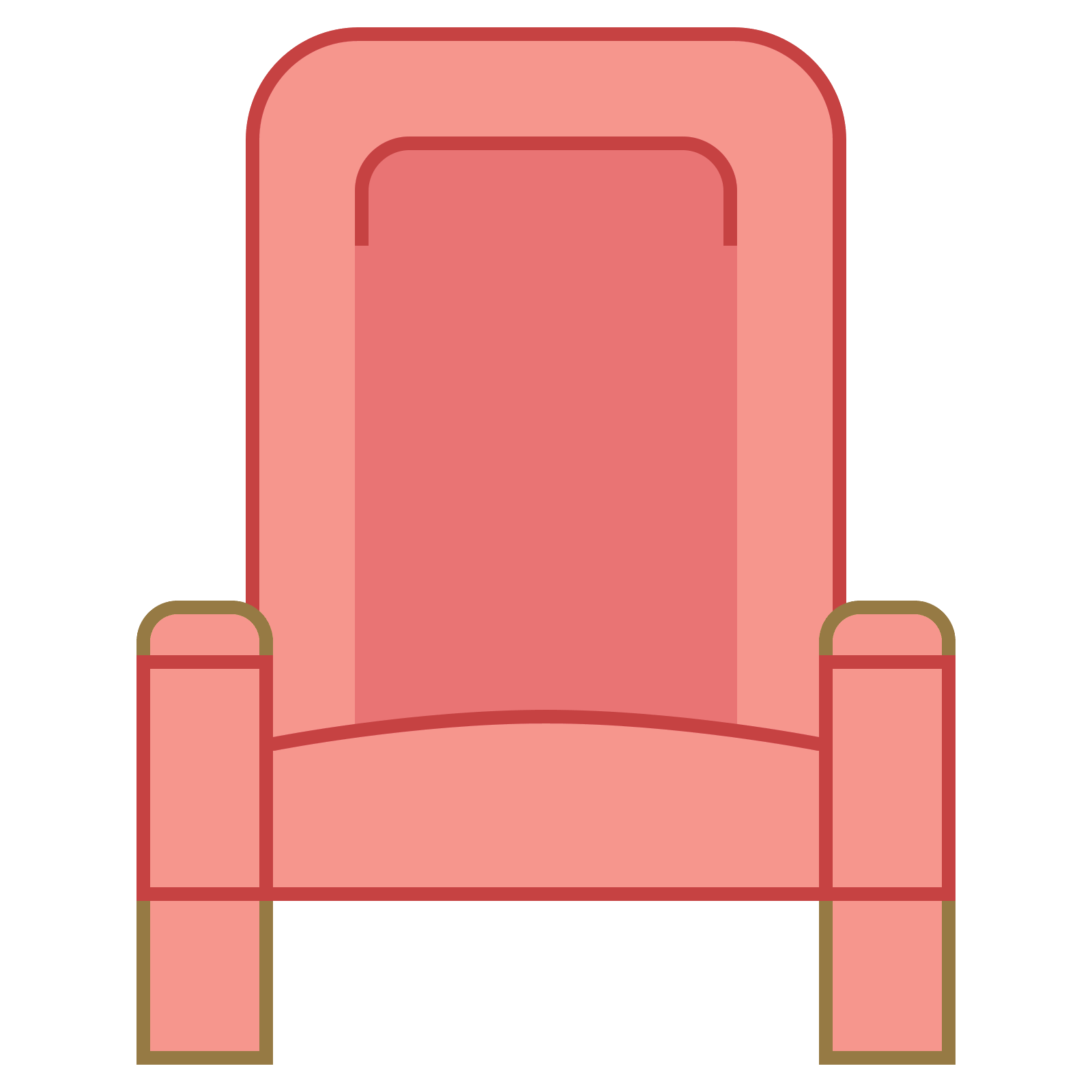 Vector chair row. Theatre seat icon free
