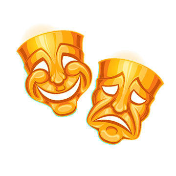 Theater mask png vectors. Sad vector picture library stock