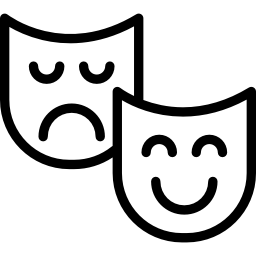 Masks icons free download. Theater vector black mask black and white