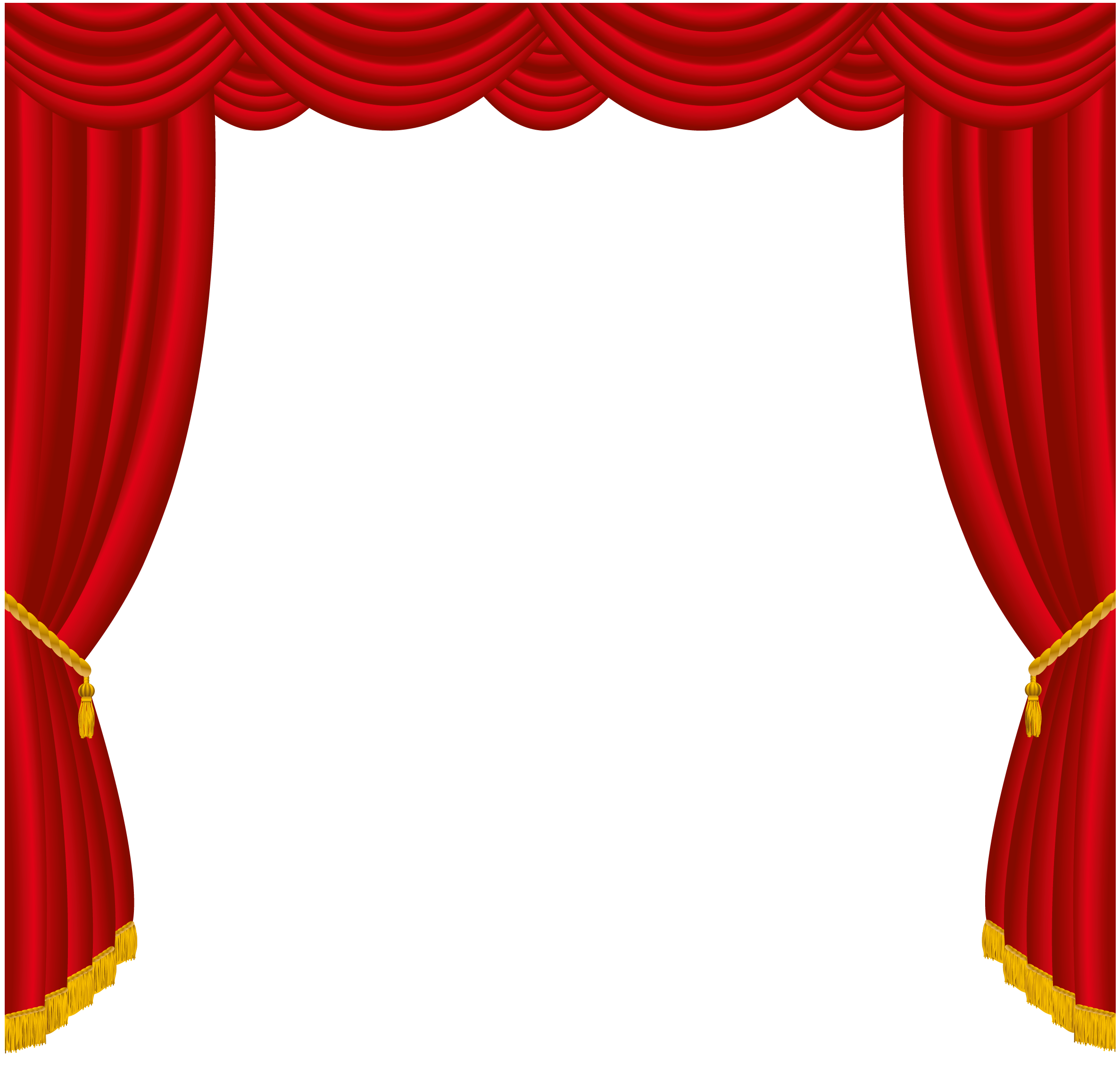 Transparent red curtains decor. Curtain clipart vector freeuse download
