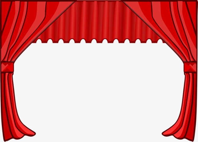 Theatre clipart curtain frame. Movie theater red the