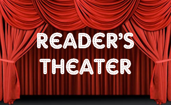 Theatre clipart reader theater. Readers performing characters
