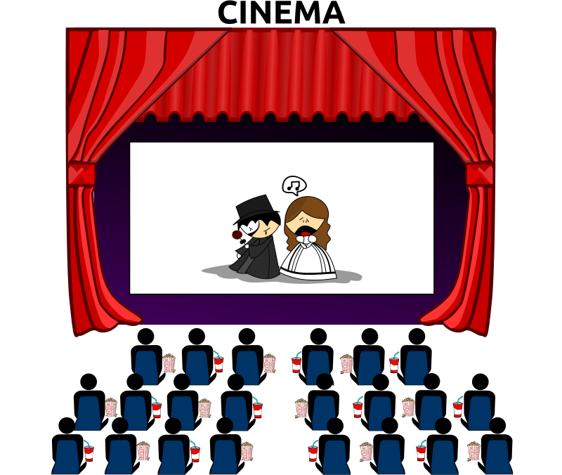 Movie theatre . Mask clipart cinema clipart royalty free stock