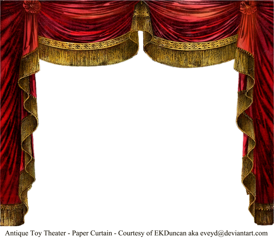 Theatre curtain png. Paper theater ruby by