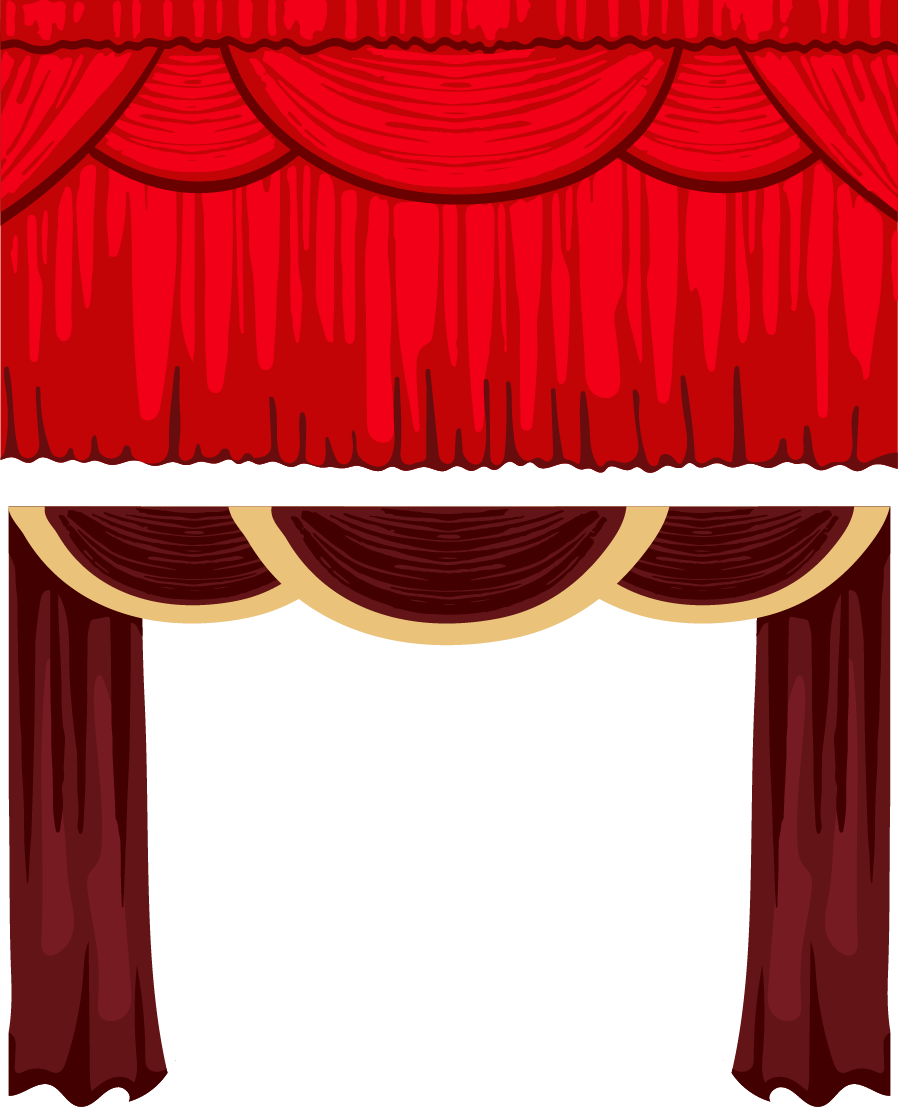 Theater drapes and stage. Theatre curtain png clipart free stock