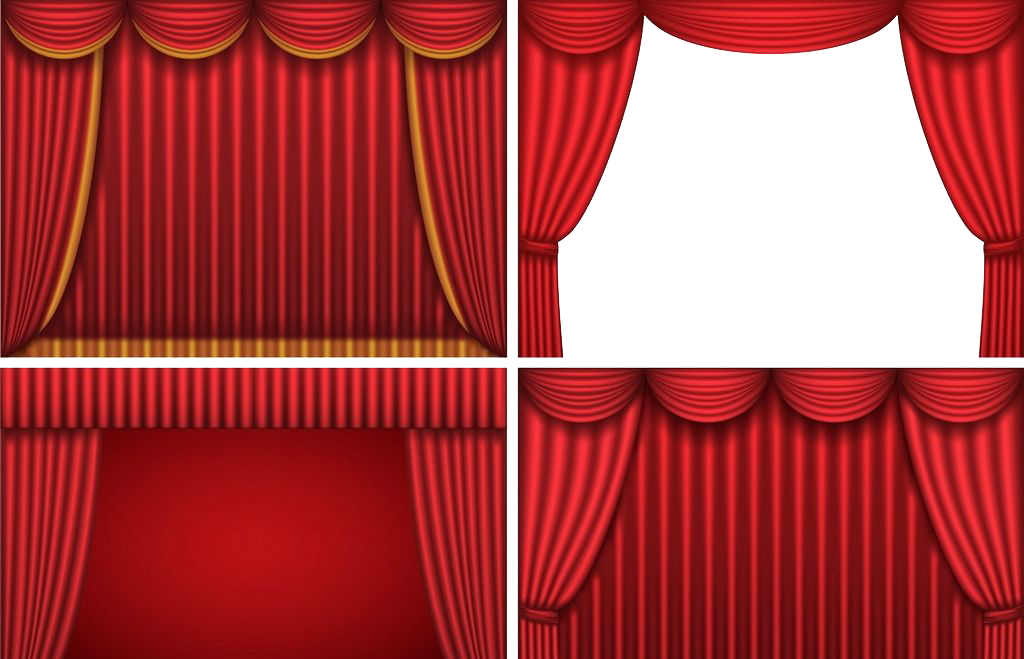 Theatre curtain png. Theater drapes and stage