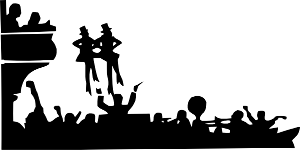 Theater vector musical theatre. Performance clip art at