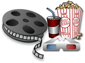 Theatre vector cartoon movie. Collection of free fil