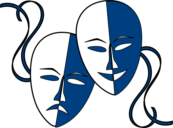 Theatre club clipart . Theater vector mask banner royalty free
