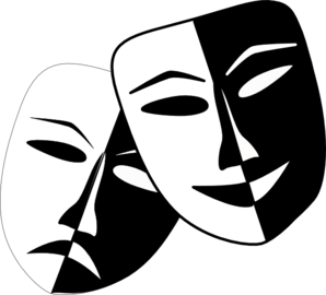 Theatre vector clip art. Masks at clker com