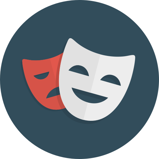 Theatre vector comedian. Ballicons free by pixelbuddha