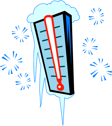 Thermometer clip cold. Frozen no background encode