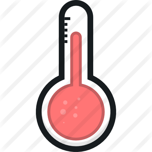 Thermometer clip pan. Free weather icons