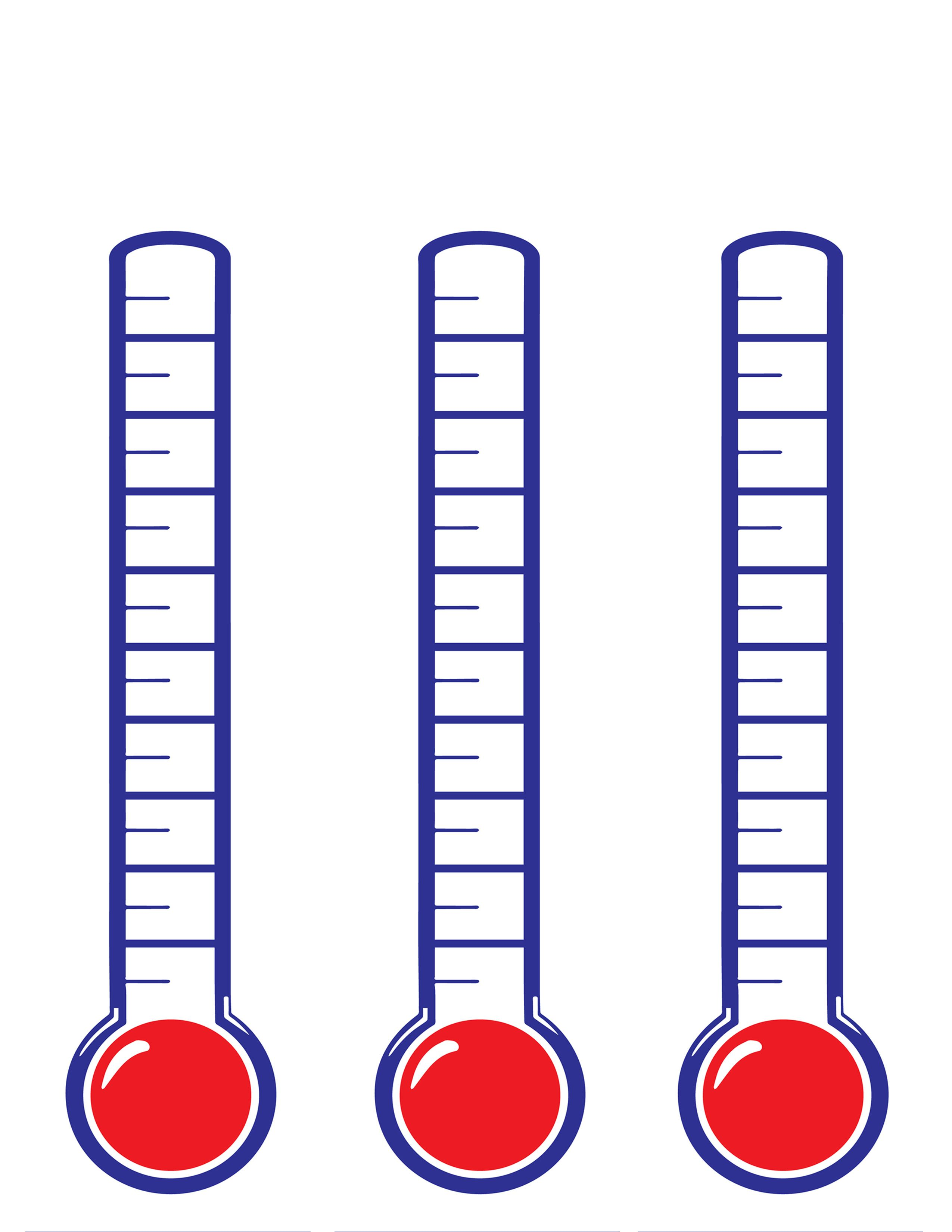 Thermometer clipart customizable. Custom triple fundraising thermometers