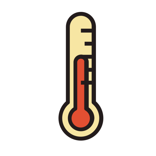 Thermometer png icon. Fill linear and vector