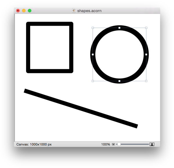 Thick outline octagon png. Acorn shape tools screen