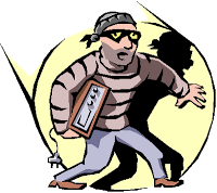 Thief clipart two. Around our area takes