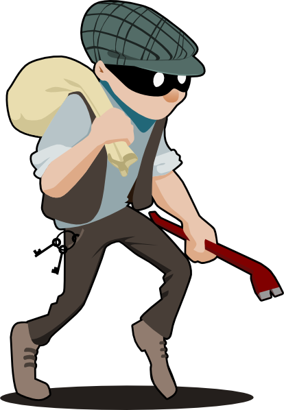 Thief clipart wanted person. Burglar panda free images