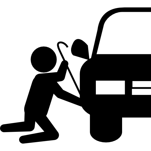 Thief vector hand. Robber silhouette trying to