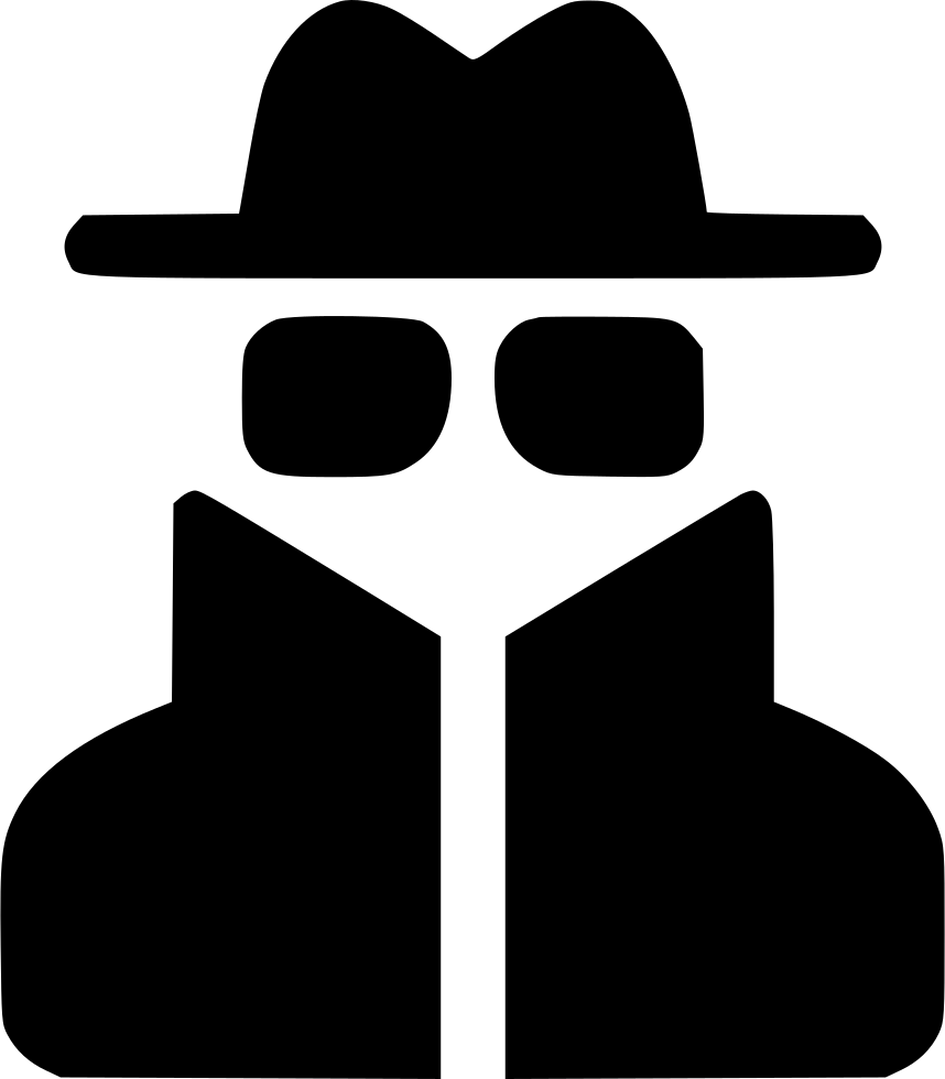 User thief glasses hat. Spy clipart image free stock