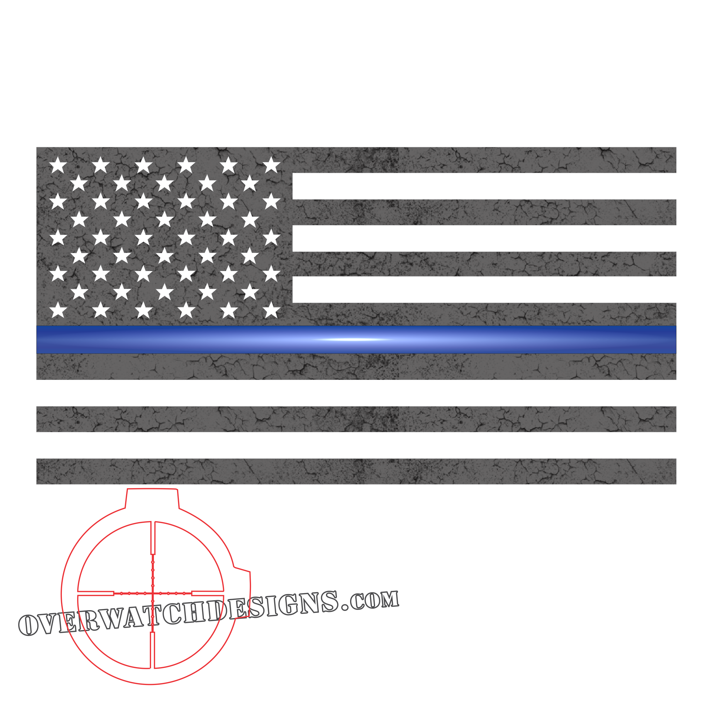 Thin blue line flag png. Subdued overwatch designs