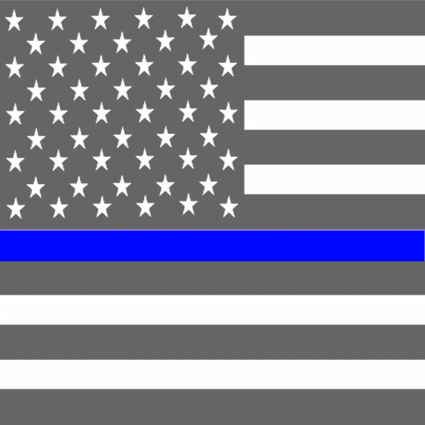 Thin blue line flag png. Support our law enforcement