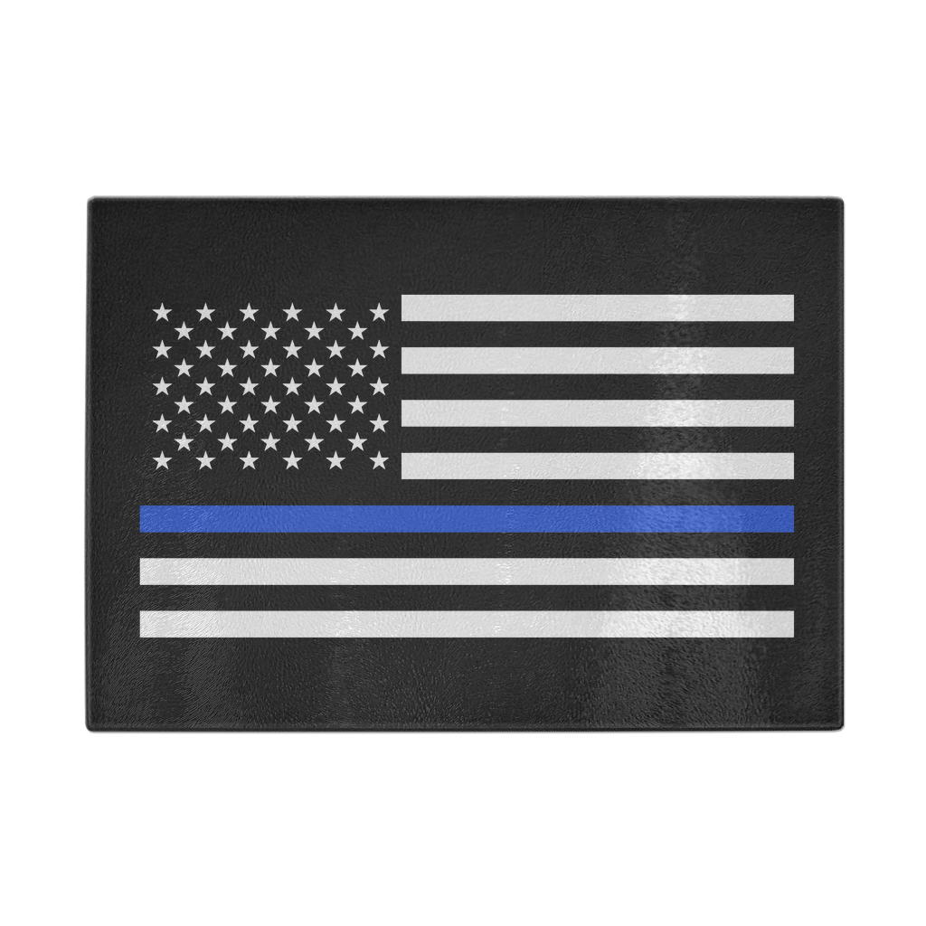 Thin blue line png. American flag cutting board