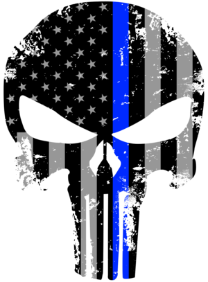 Thin blue line png. Tattered x inch subdued