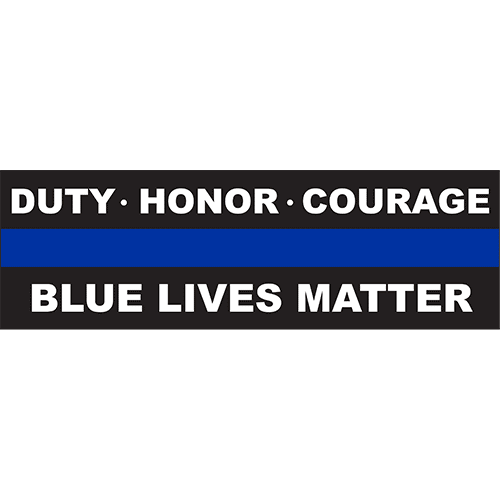 Thin blue line png. Decal