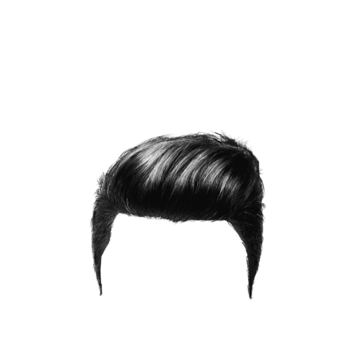 hair png black and white #66196677