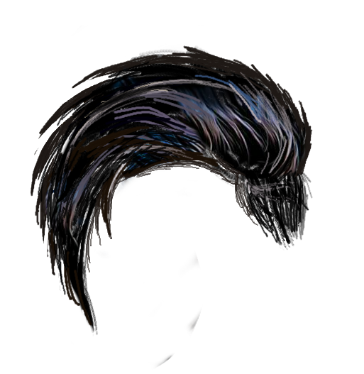 Black png. Hd most popular hair