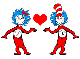 Thing 1 and thing 2 png. Sweatshirts
