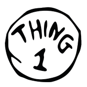 Thing 1 thing 2 png. And dr seuss hallo