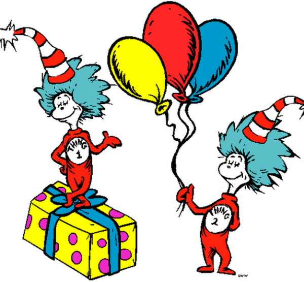 Thing 1 and thing 2 png. Dr seuss free images