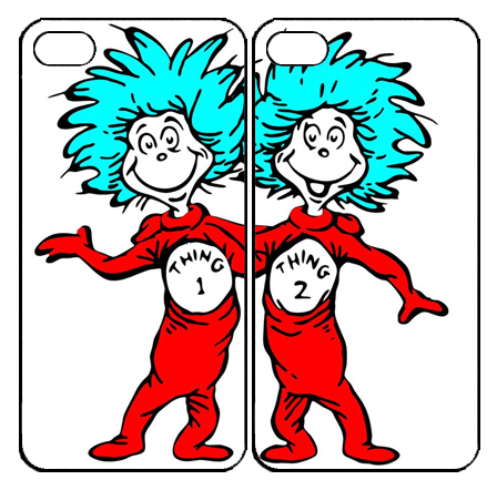 Thing 1 and thing 2 png. Ipod case on the