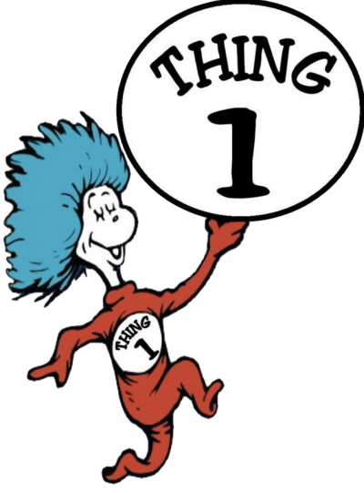 Thing 1 and thing 2 png. Is two at your