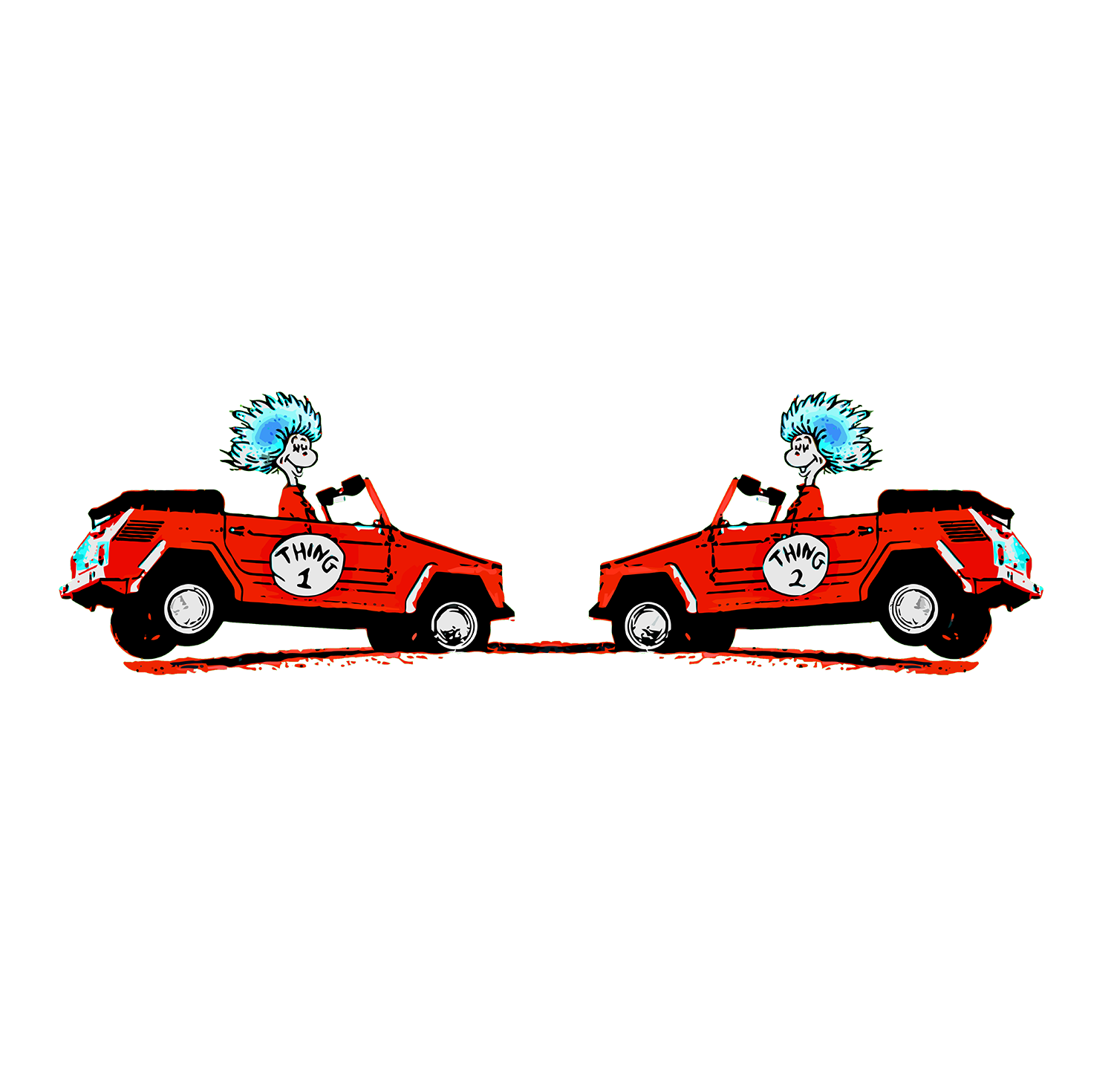 Thing 1 thing 2 png.