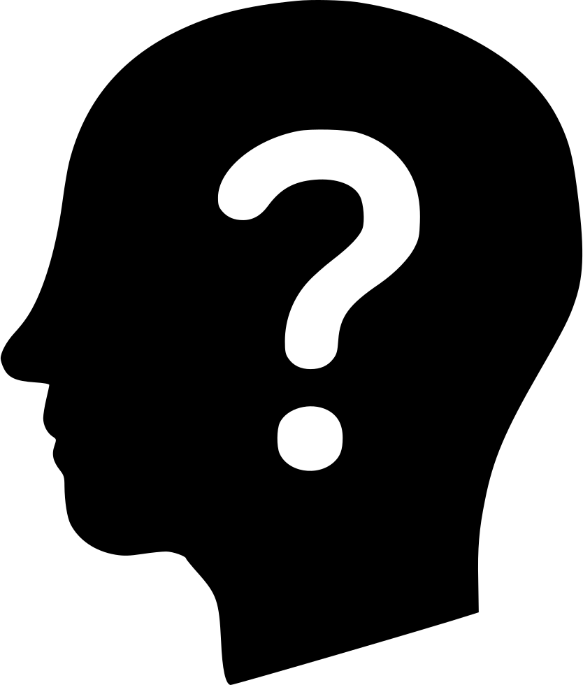 Thinking brain png. Mind question help svg